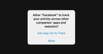 Apple allows users to opt-out of apps tracking their activity