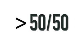 Better than 50-50