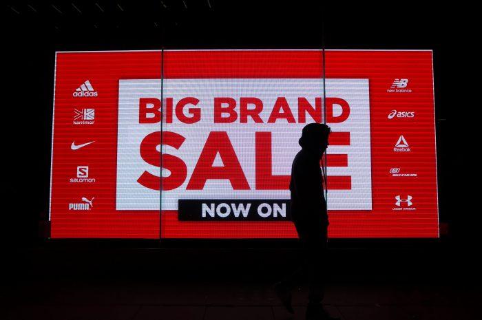 Dip in online sales.
