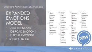Clarabridge emotion analysis, due for summer 2016 release