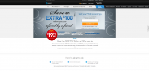 DIRECTV Refer a Friend Website Promotion