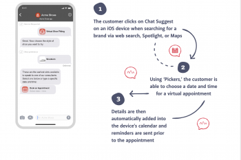 Engaging your customers via appointment booking on private messaging channels