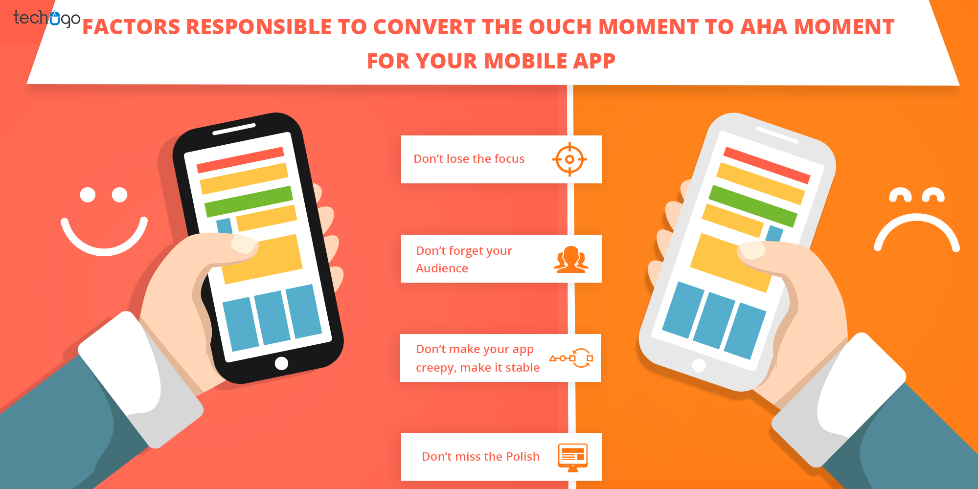 FACTORS RESPONSIBLE TO CONVERT THE OUCH MOMENT TO AHA MOMENT FOR YOUR MOBILE APP