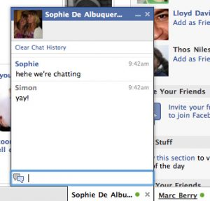 Example of Facebook Chat