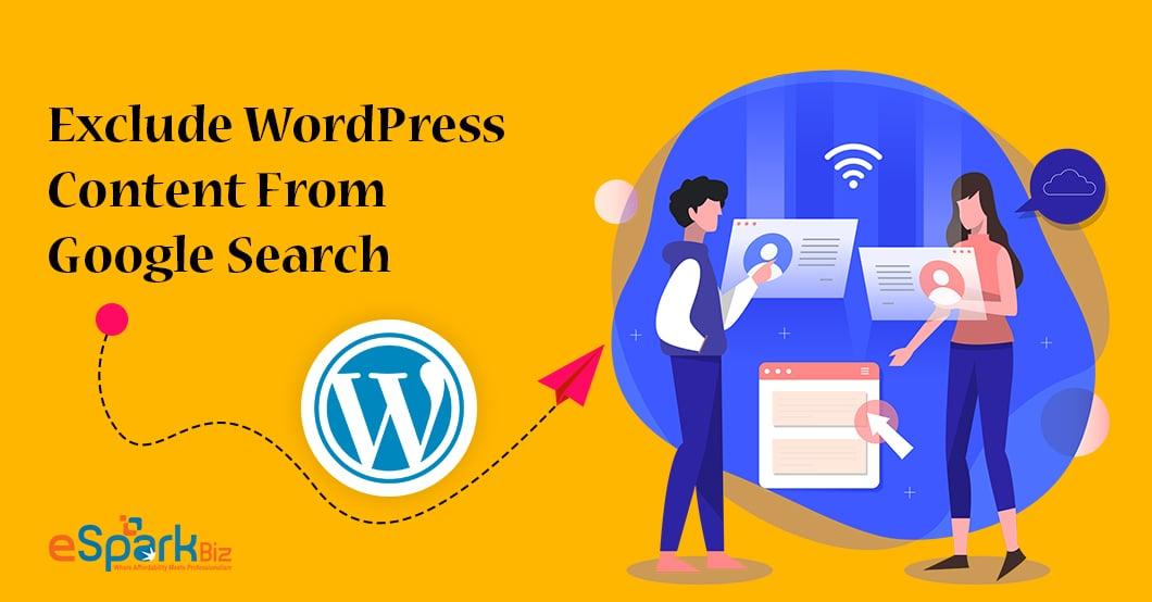 Exclude WordPress Content - eSparkBiz
