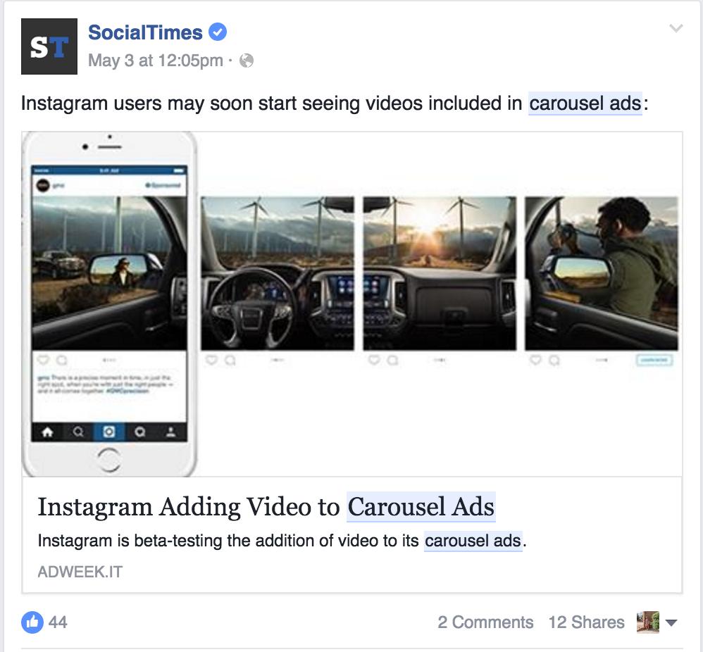Facebook Ads - Carousal Ads