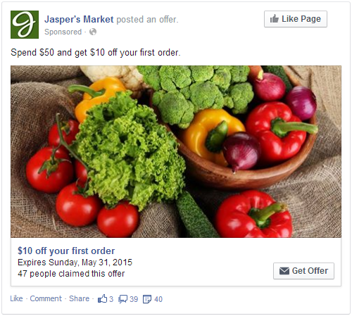 Facebook Ads - Offer Ads