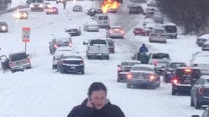 Raleigh snow storm pic