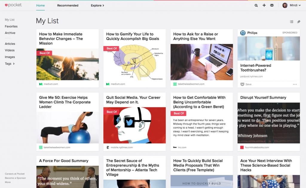 Pocket App - Content Marketing - Mindi Rosser