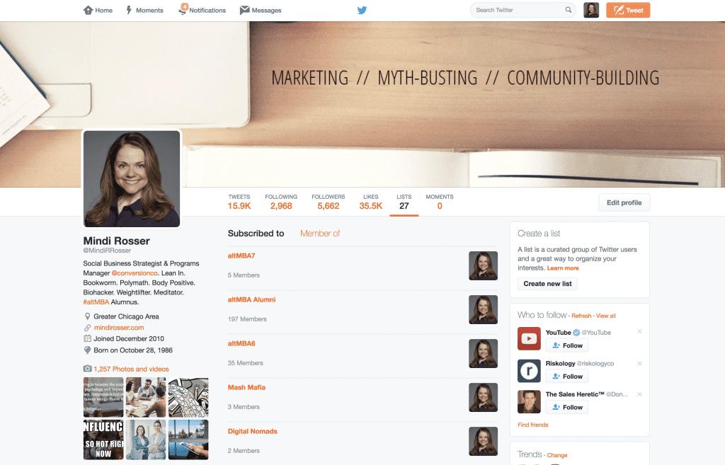 Mindi Rosser - Twitter Lists - Customer Think