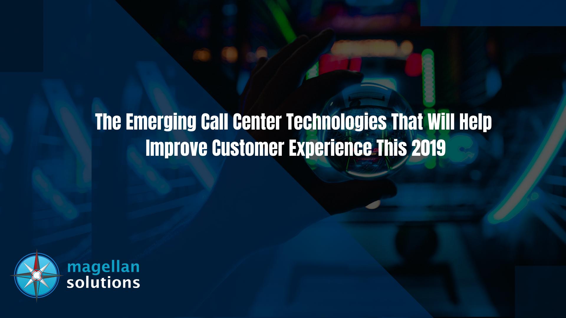 emerging call center technologies