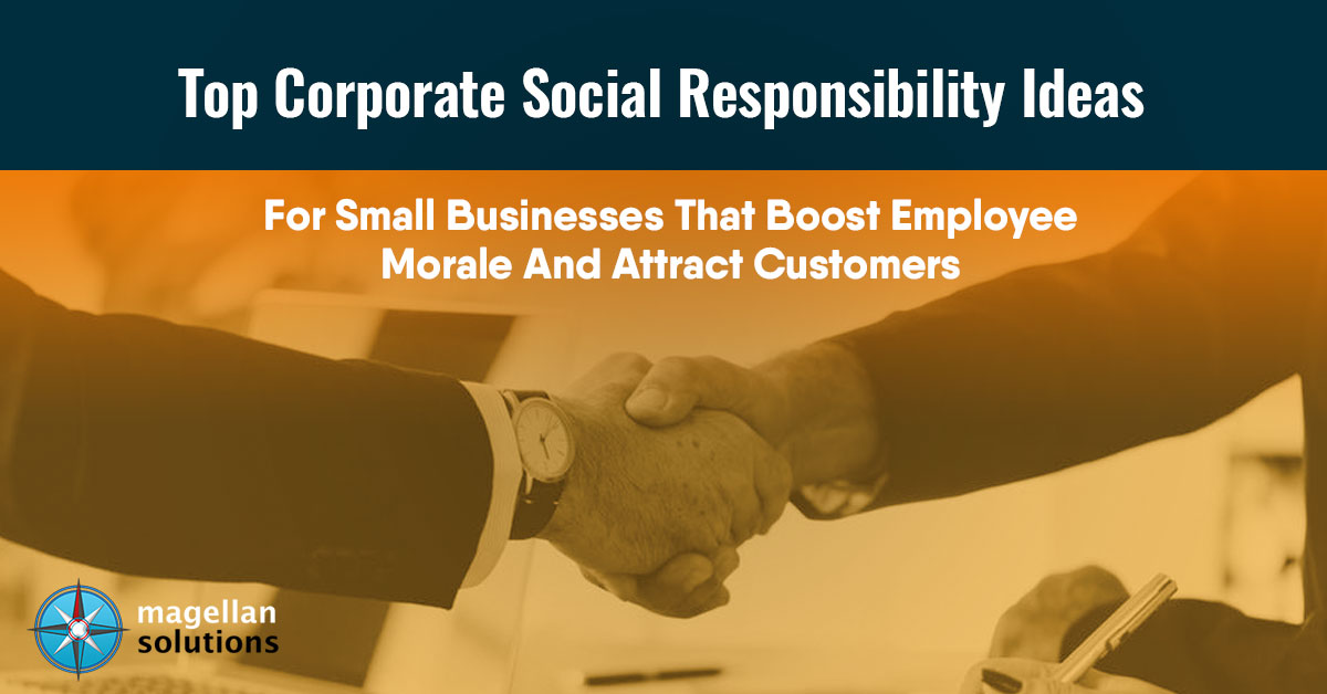 corporate social responsibility ideas for small businesses