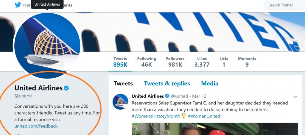 United Airlines helpline link