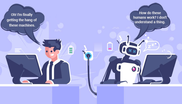 Agent vs human solving customer issues