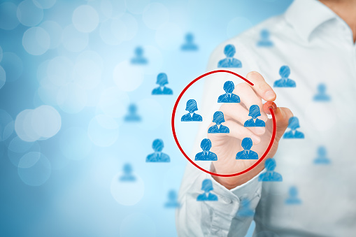 person circling marketing audiences