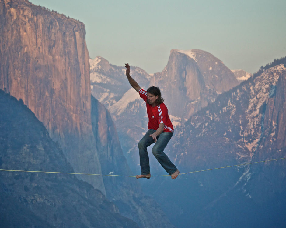 Potter, tetherless, in Yosemite. Photo by James A Hurst.