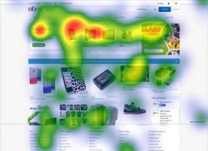 Source. Heatmap showing how the 'crazy deals' hook on Ebay's landing page druves visitor engagement