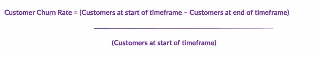 calculate customer churn rate