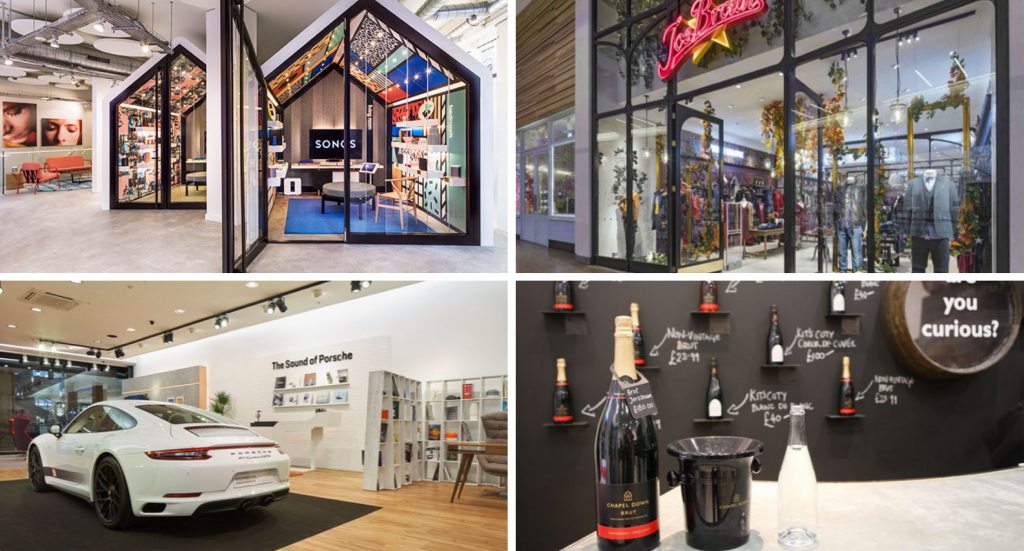 Sonos new store in London, Joe Brown's store at Meadowhall, Porsche and Chapel Down pop ups at Bluewater - all announced this month