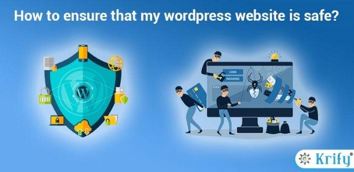 how to ensure my wordpress website is safe