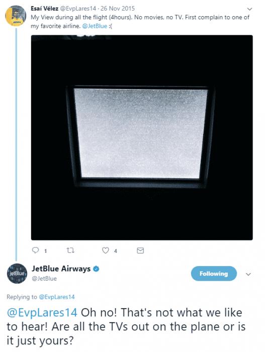 JetBlue Airway tweet