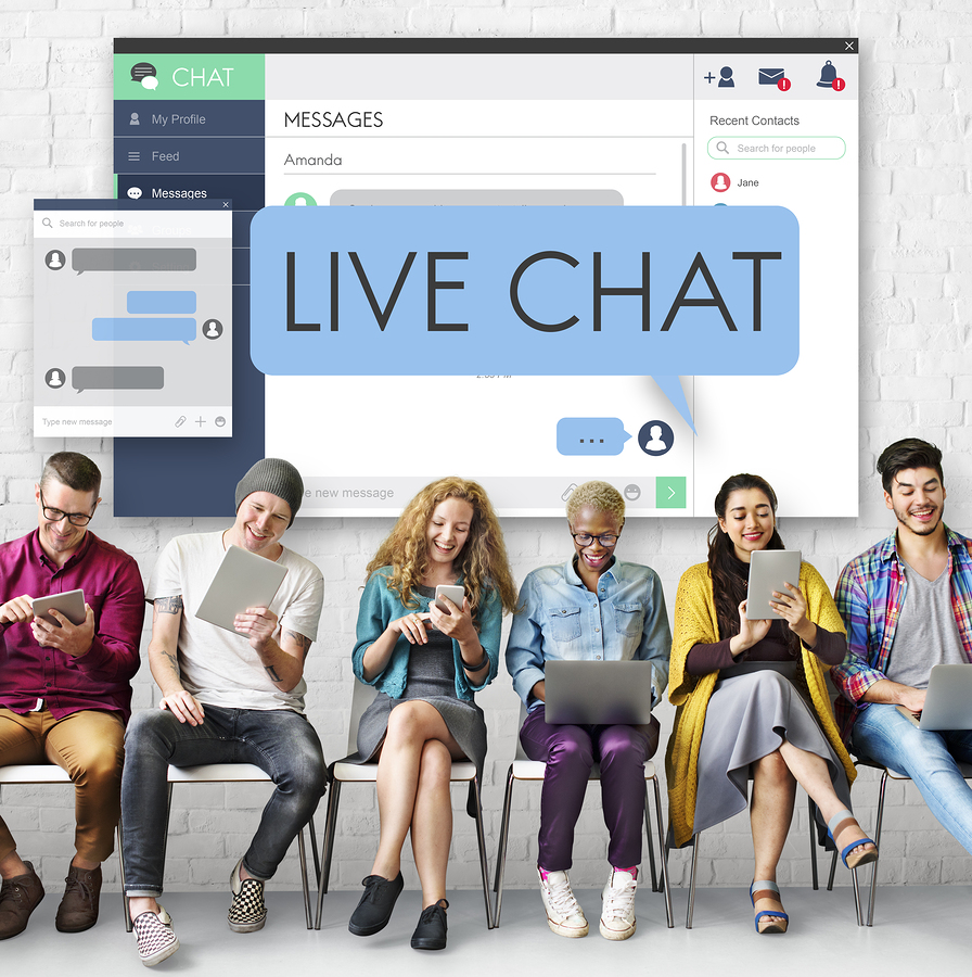 live chat with customers