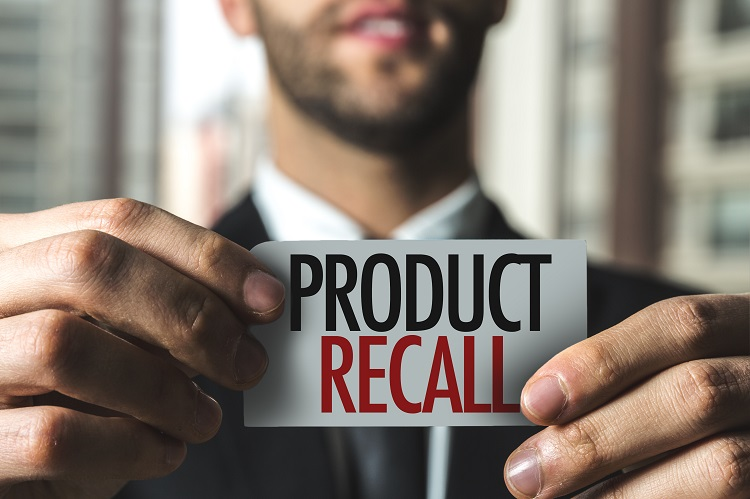 product recall label