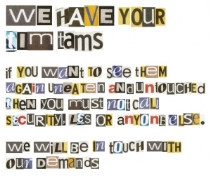 Old World Ransom Note