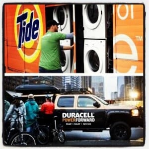 Duracell sent mobile charging stations to Lower Manhattan so that people could charge their flat mobile phones and connect with loved ones.