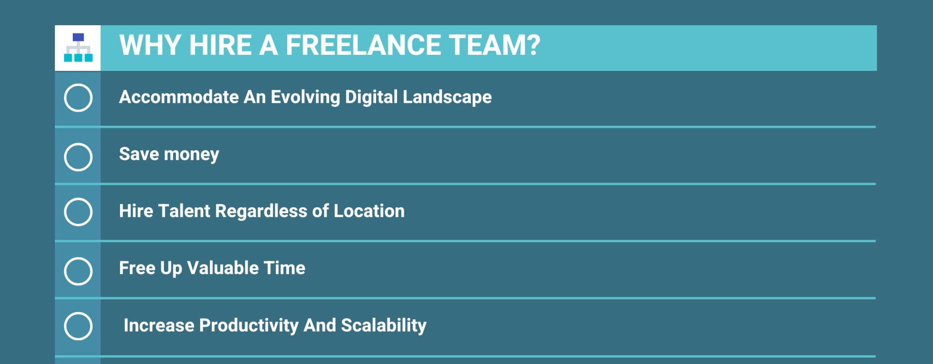 why hire a freelance team